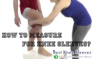 how to measure for knee sleeves